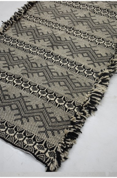 Tapis berbère Glaoua noir et blanc