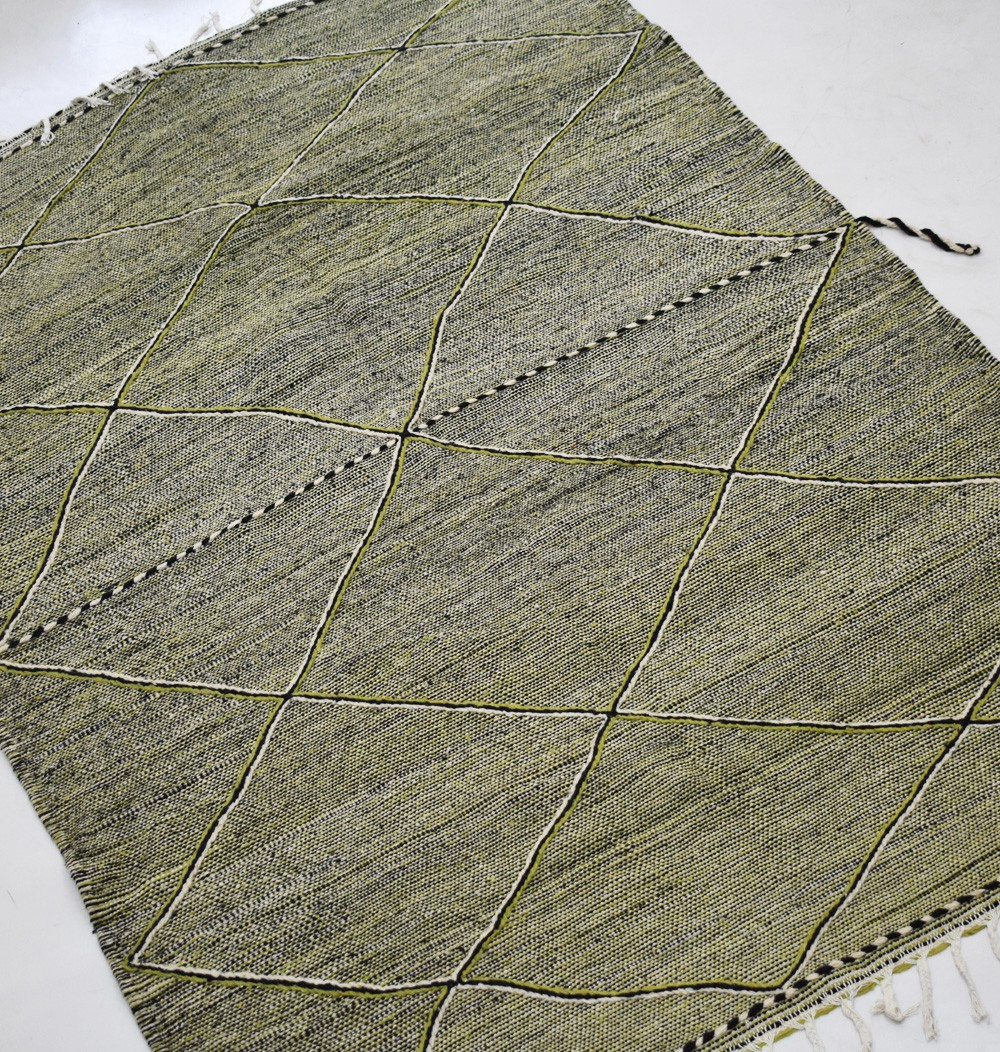 Berber carpet Hanbel mottled background with green anise
