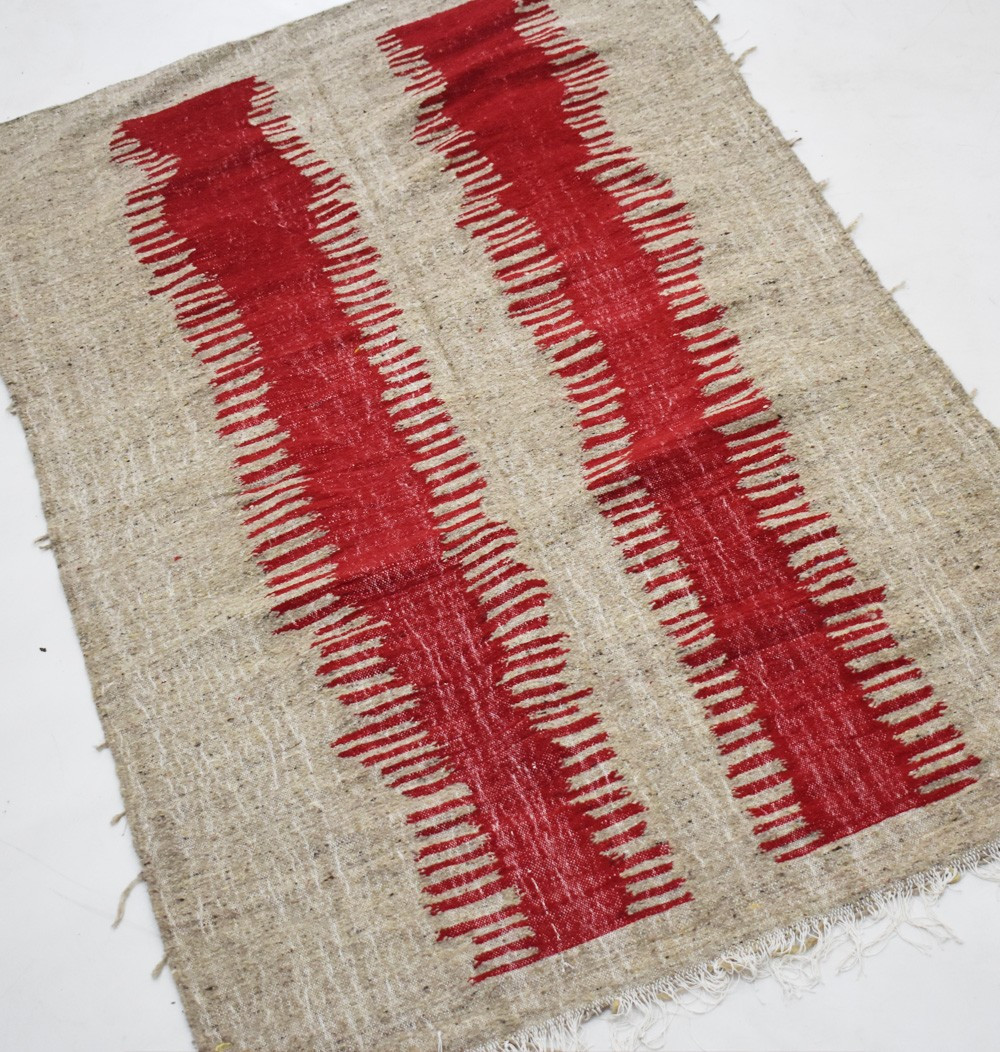 Berber carpet Hanbel beige and red