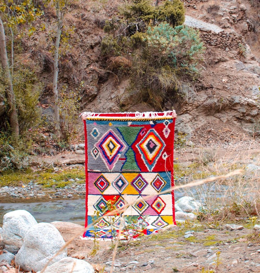 Berber psychedelic carpet