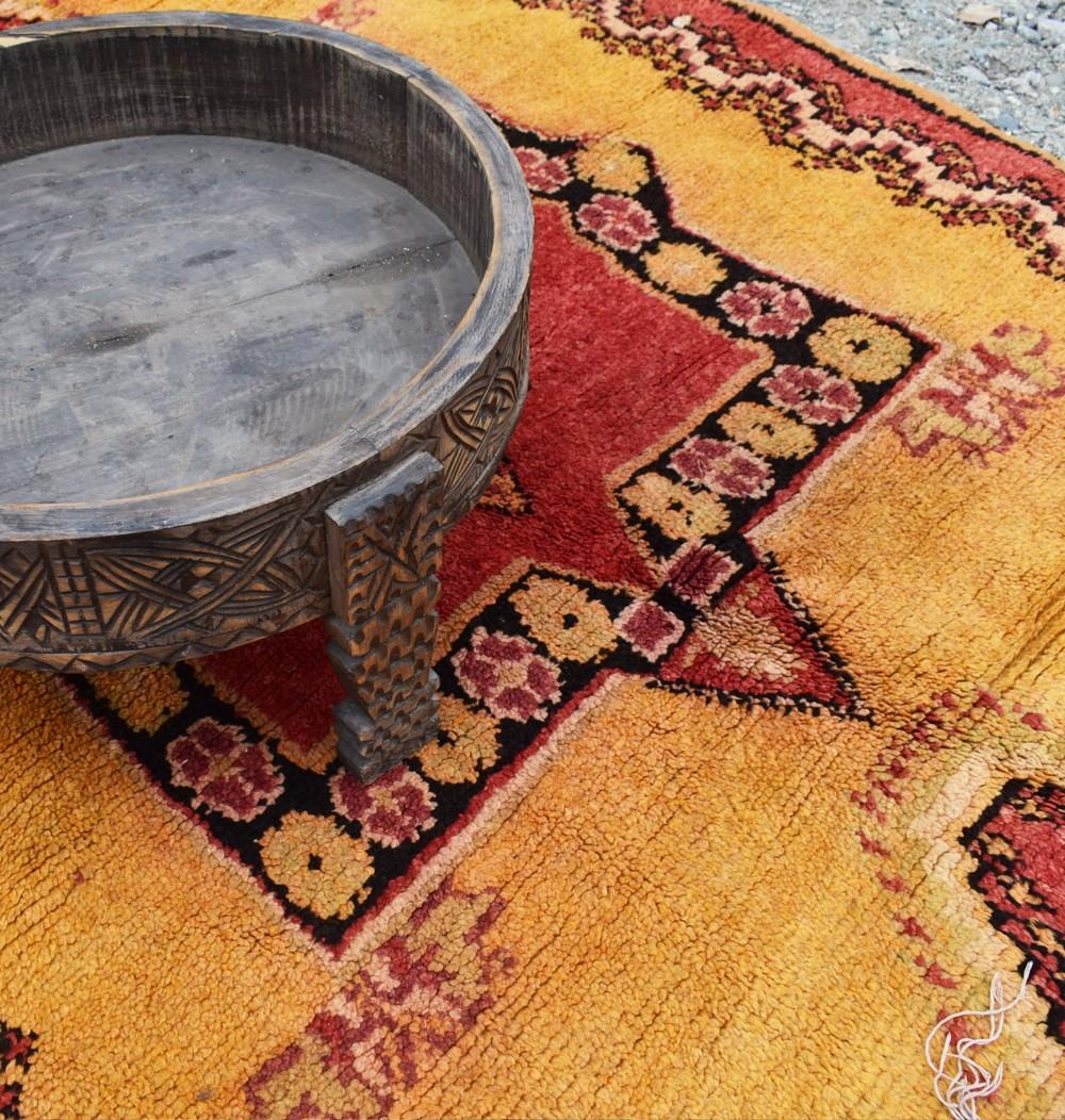 Vintage orange berber carpet