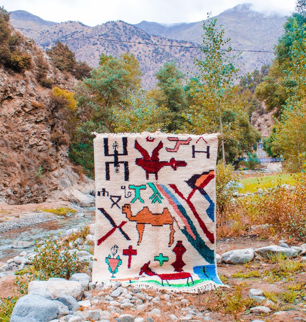 Berber carpet naif art