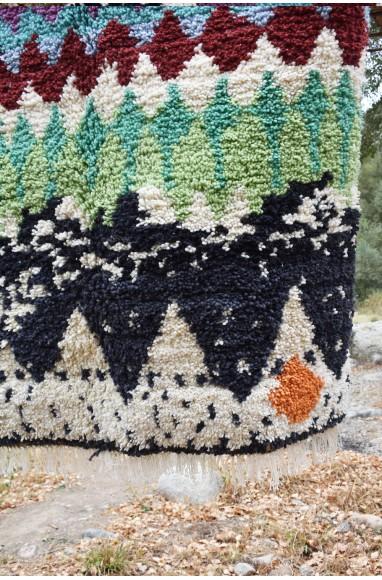 Tapis berbère vagues multicolores