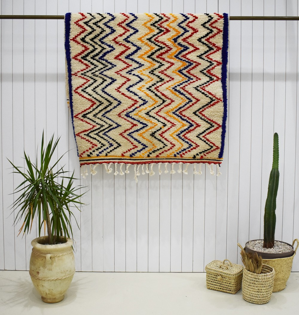 Colorful zigzag berber rugs