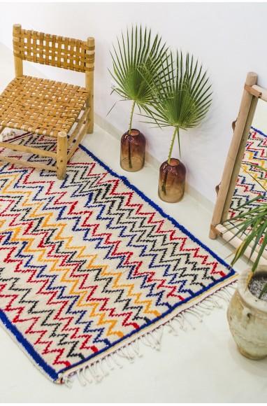 Tapis berbères zigzag colorés