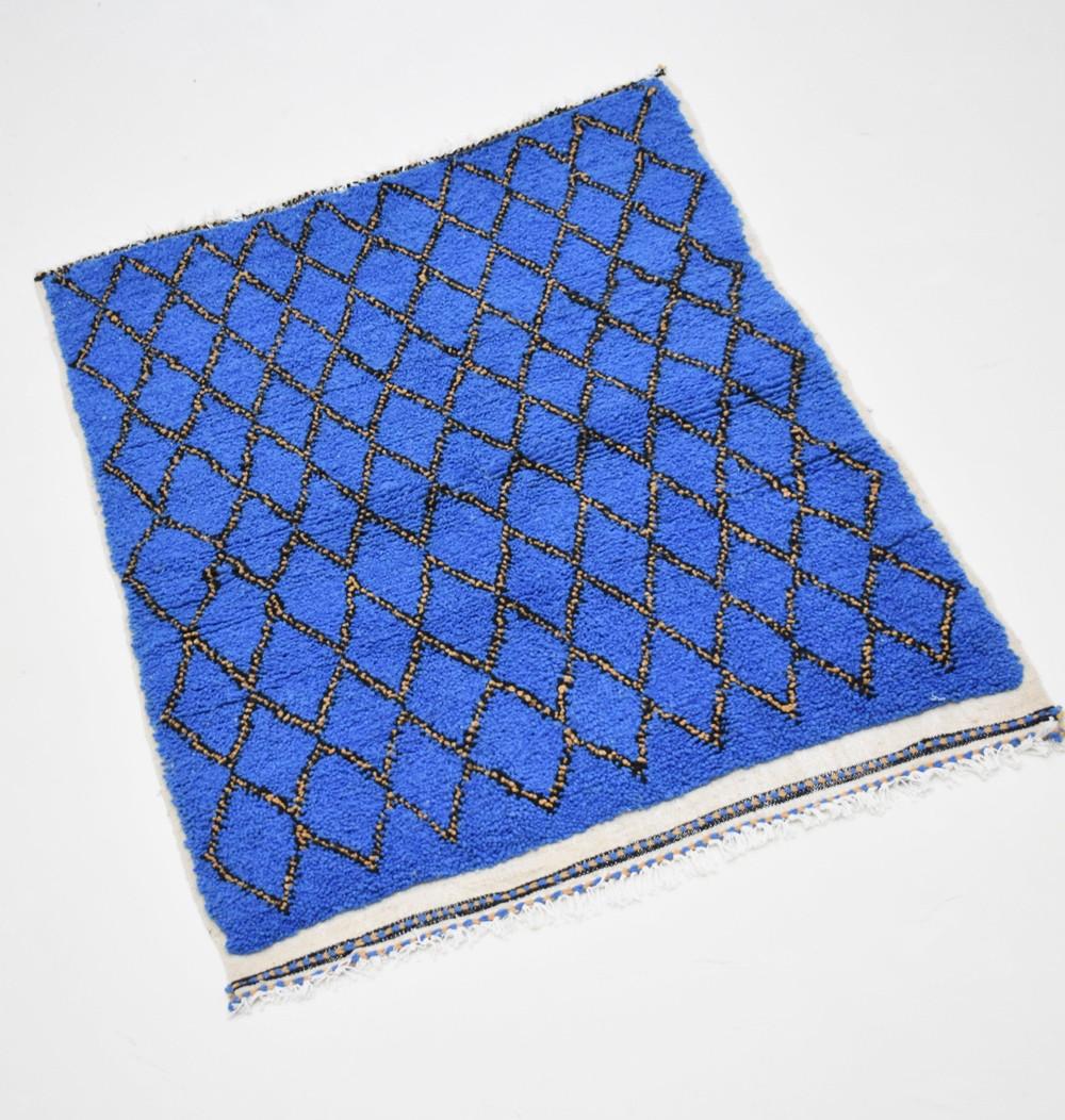 Berber carpet blue yellow