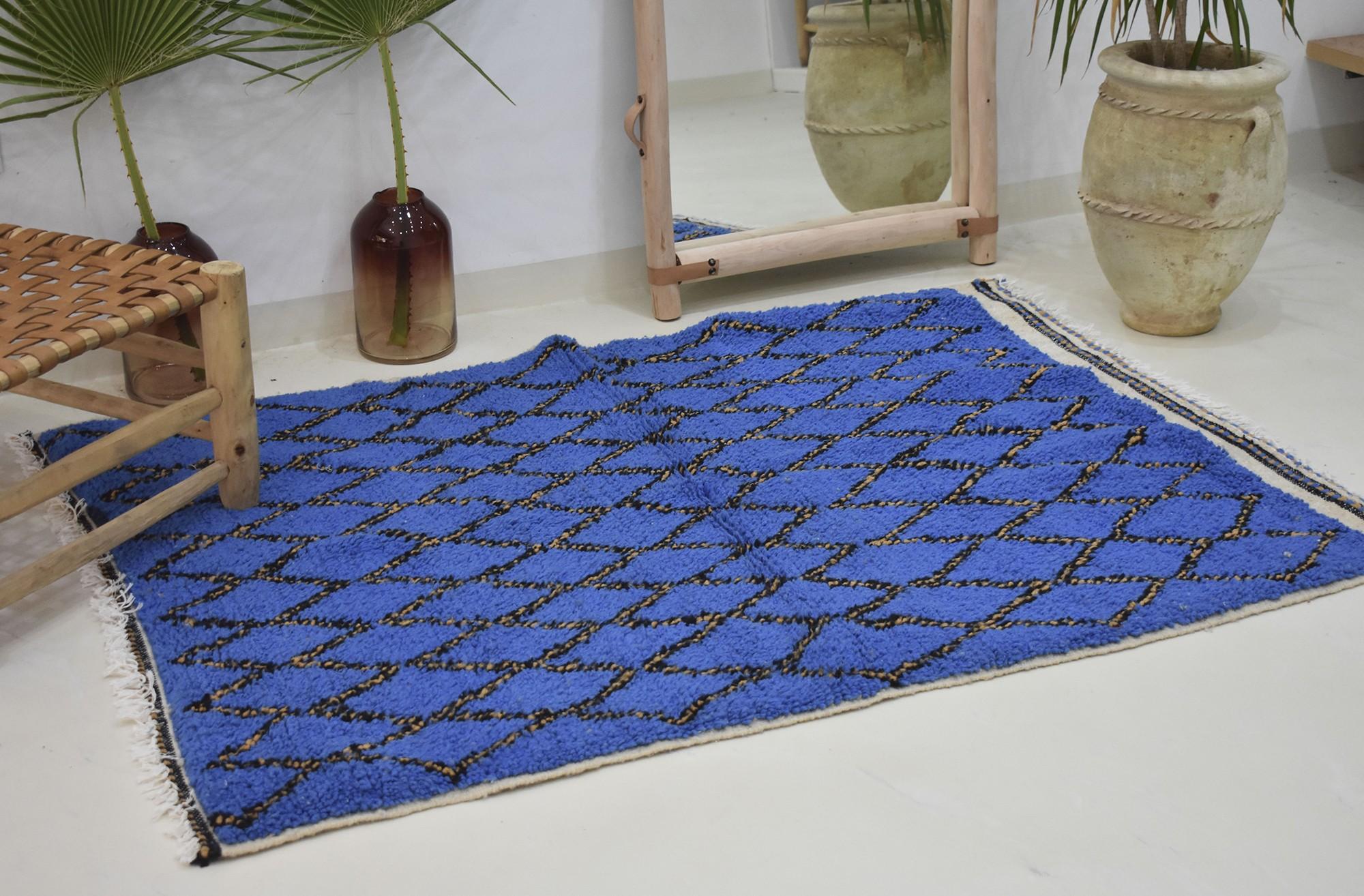 Tapis berbere bleu jaune