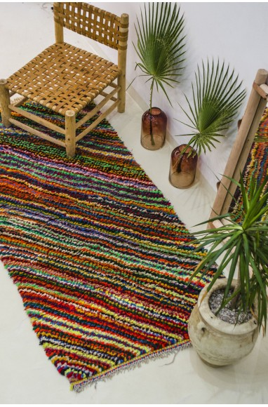 Berber carpet with a thousand colors