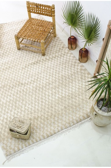 Large berber carpet cream mosaics