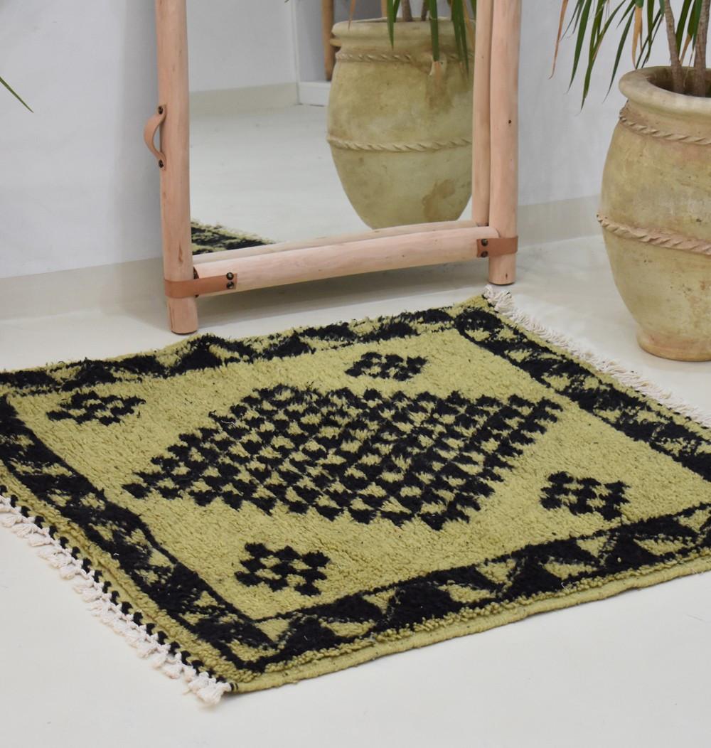 Mini tapis berbère pistache