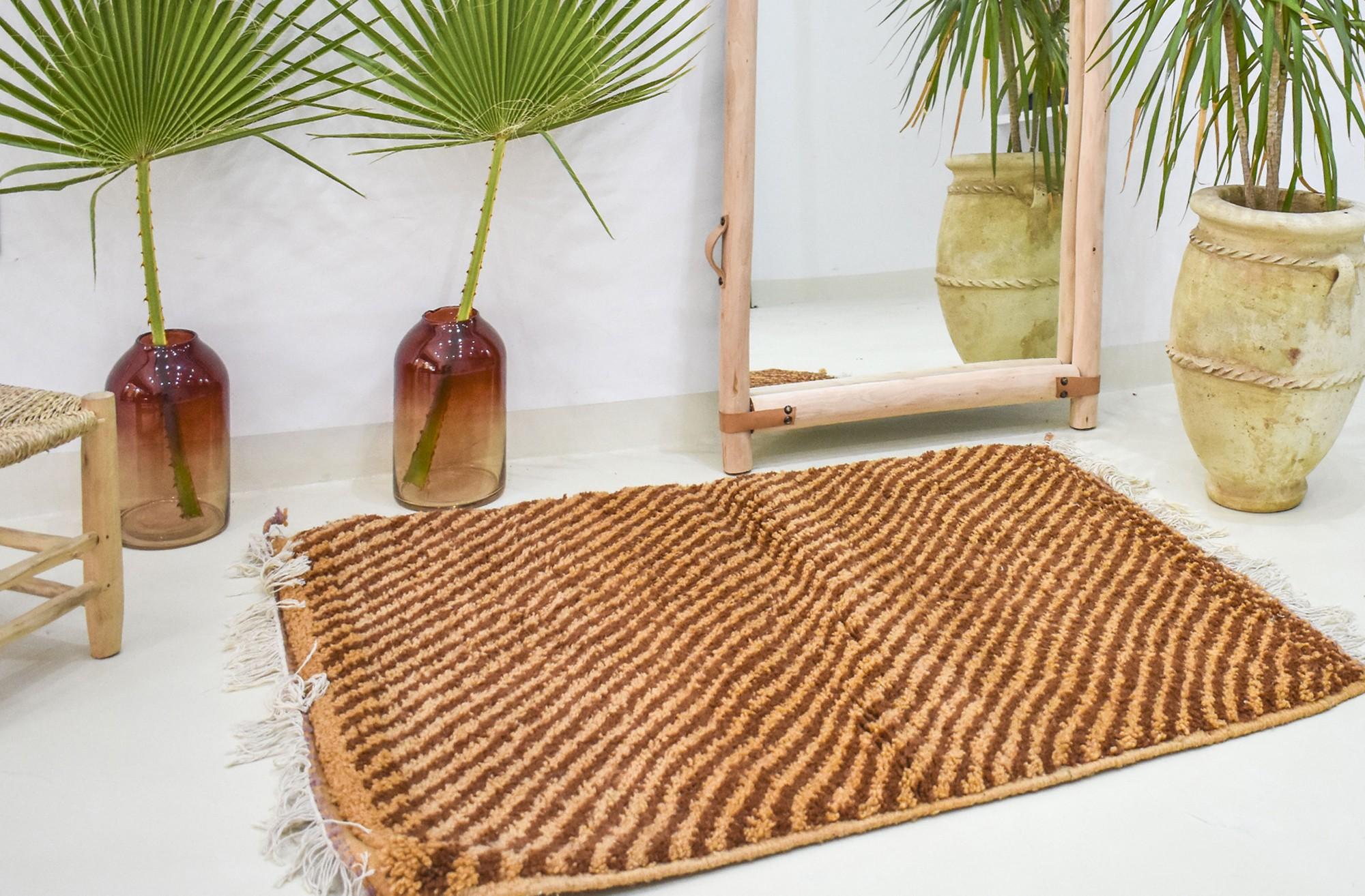 Mini tapis berbère marron
