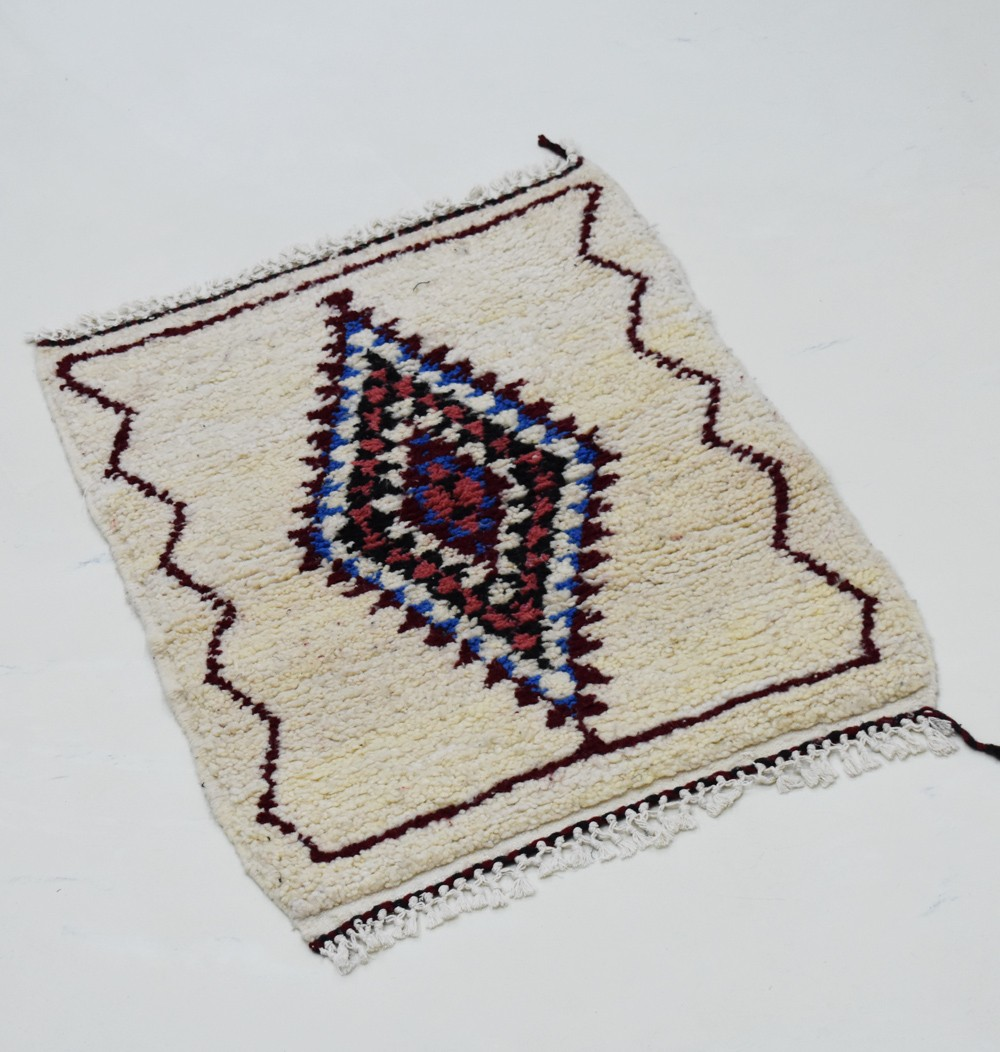 Small colorful rhombus Berber carpet