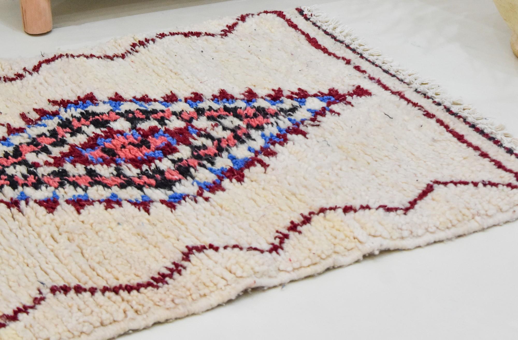 Small colorful rhombus Berber carpet