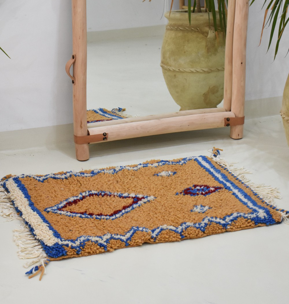 Small orange berber carpet