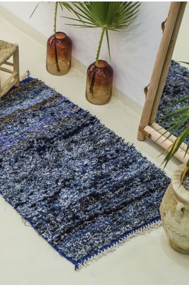 Berber butcher's rug in blue jeans