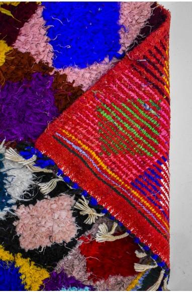 Tapis berbère lignes de losanges colorés