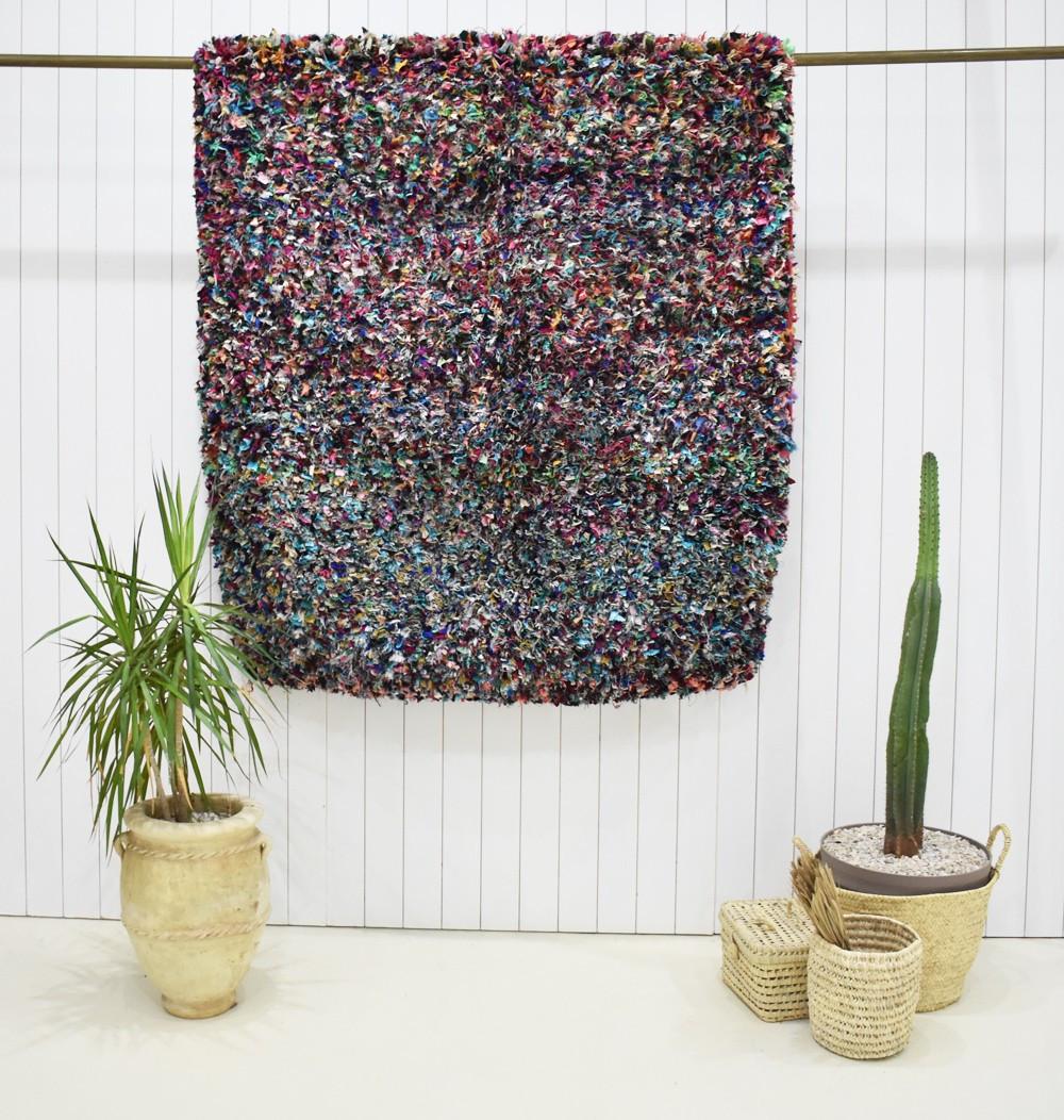 Large berber rug Boucherouite