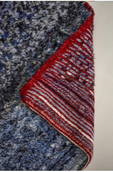 Grand tapis berbère boucherouite en jean