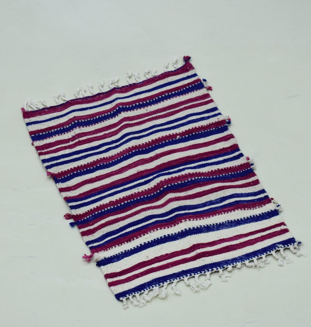 Petit tapis berbère tissé à plat