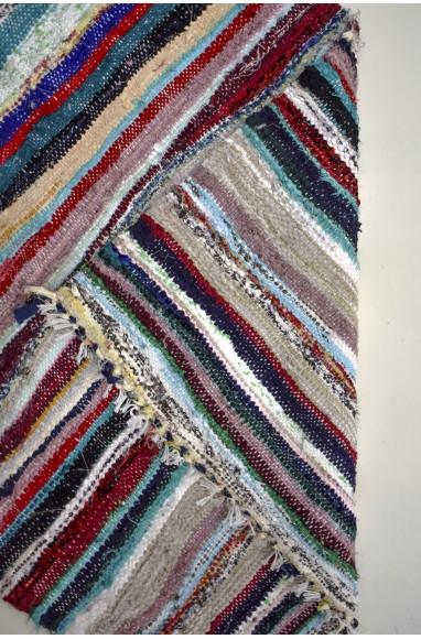 Tapis berbère coloré tissé à plat