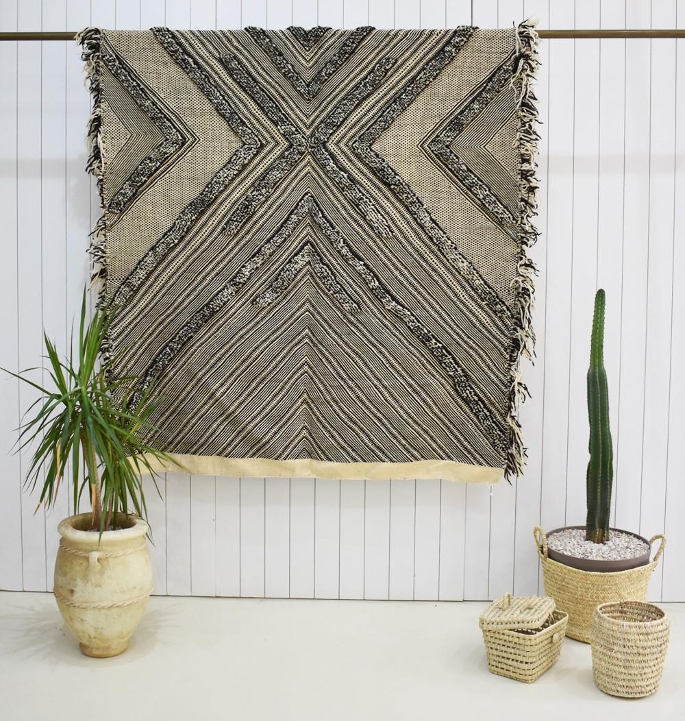 Berber gray wool rug