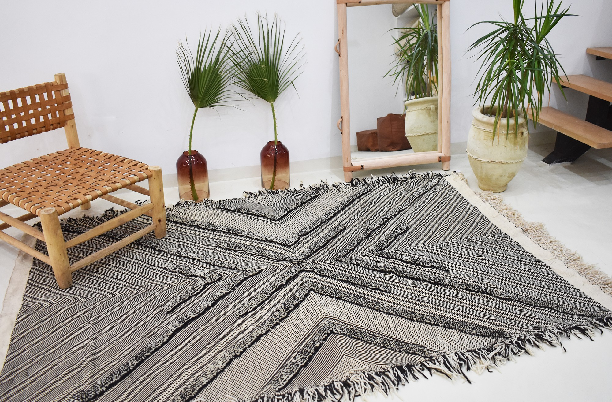 Berber gray wool rug