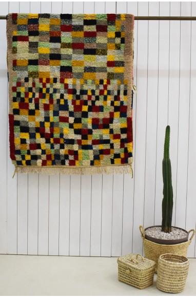 Berber carpet colored tiles