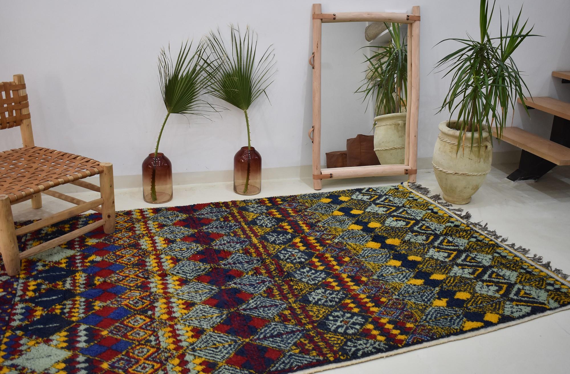 Berber carpet colored diamonds