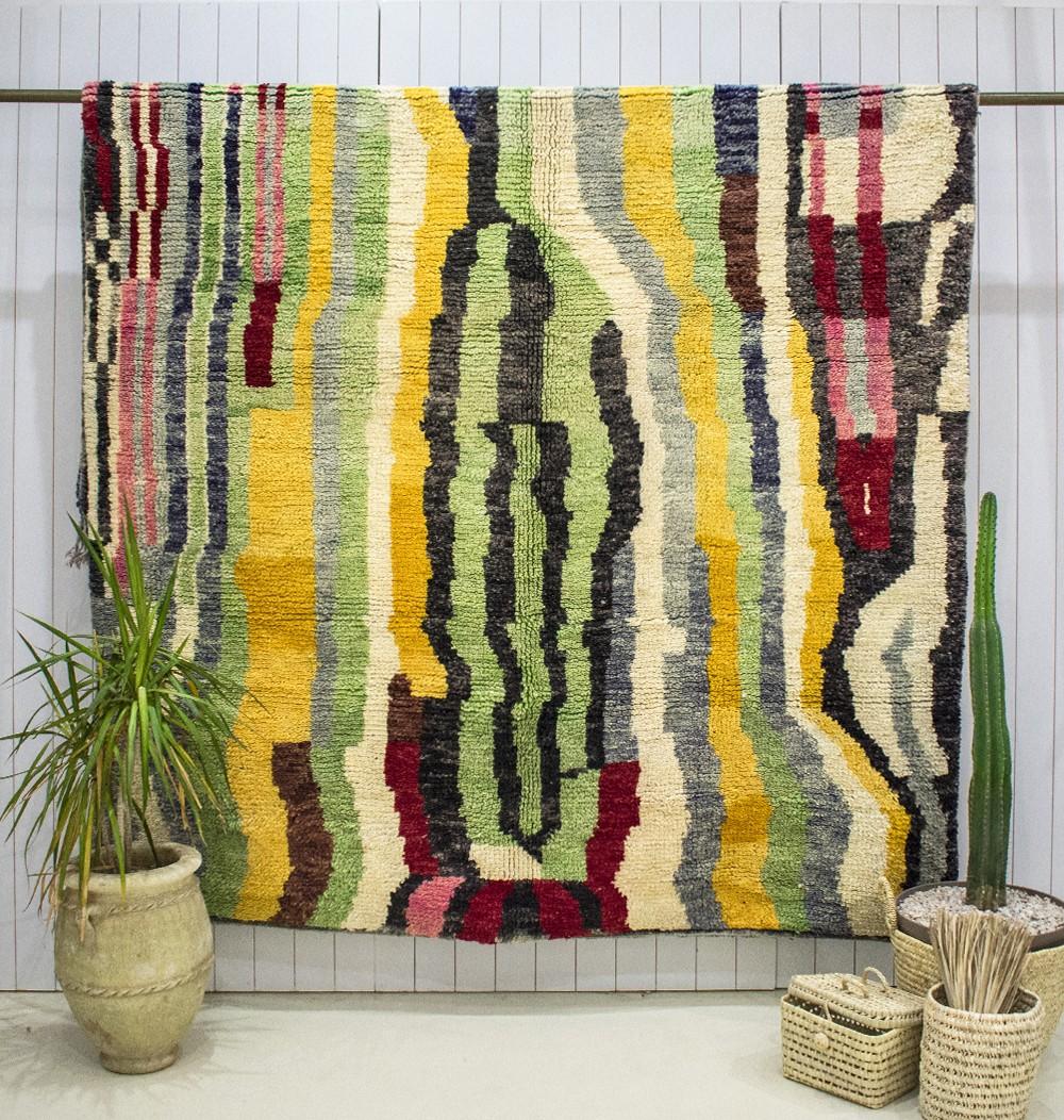 "Azilal carpet ""Labyrinth of colors"""