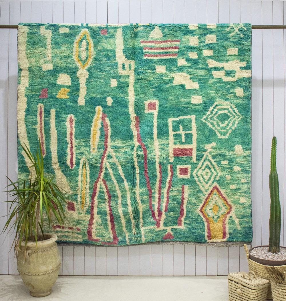 """Azilal carpet """"Exotic garden"""""""