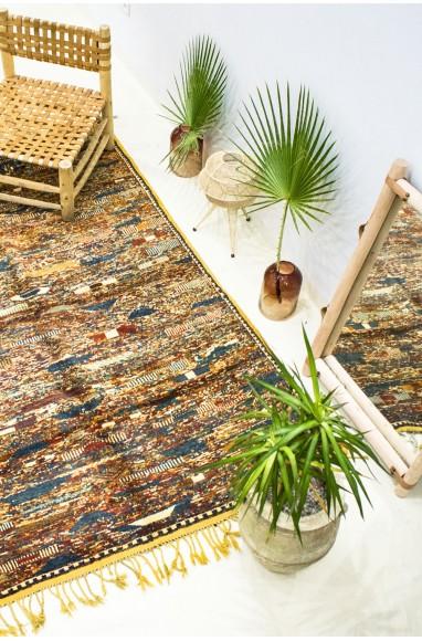 """Vintage """"Mosaic of colors"""" rug"""