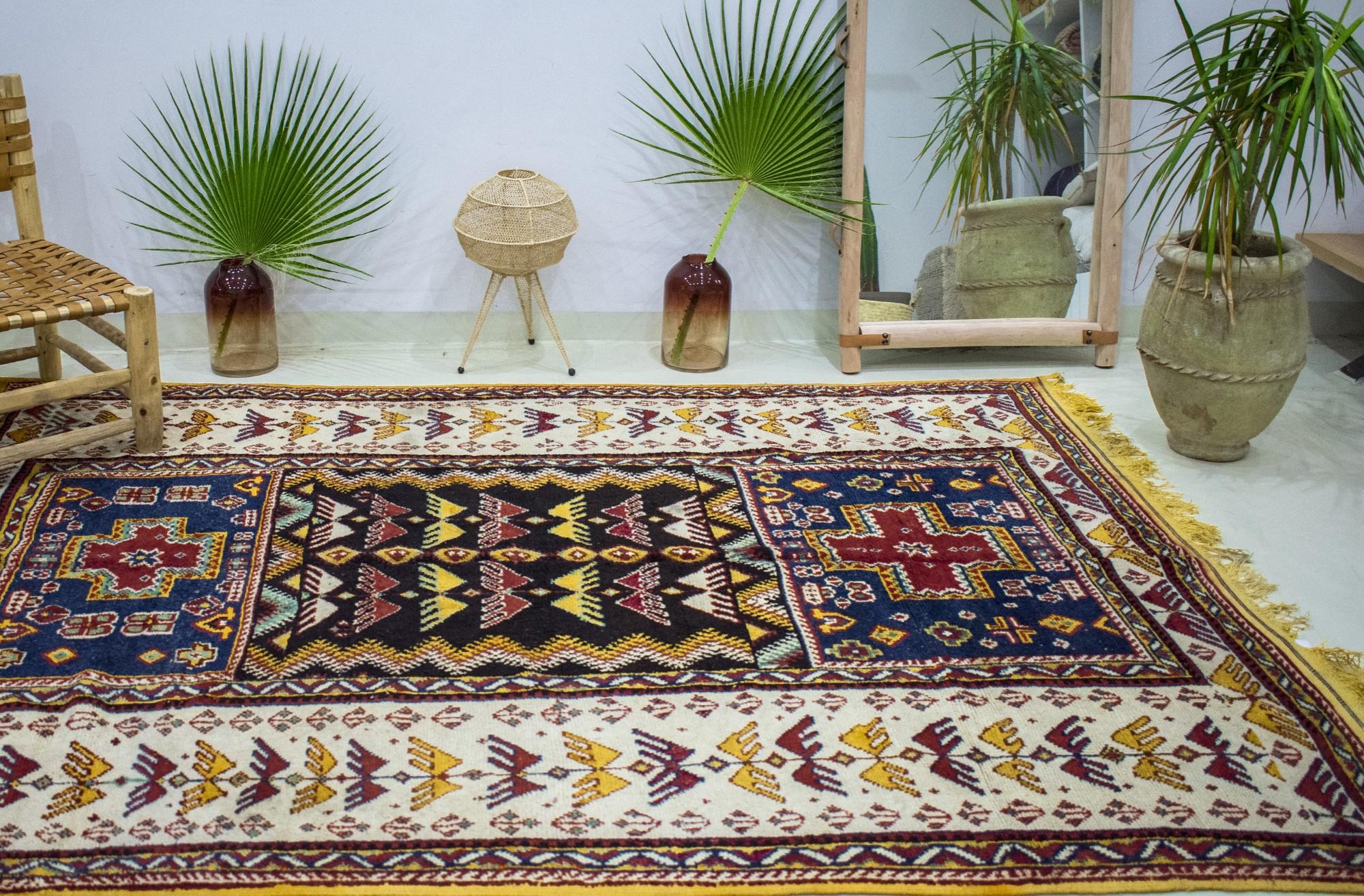 """Vintage """"American Indians"""" rug"""