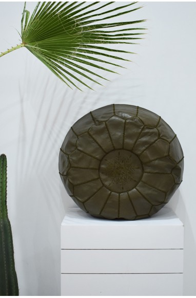 """Brown round pouf """"Chocolate"""""""