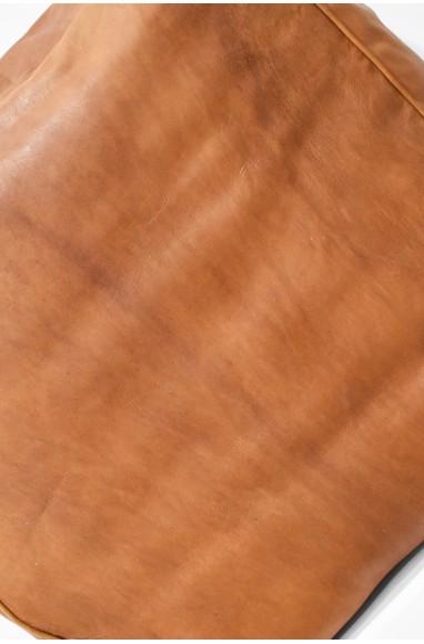 "Pouf rectangulaire ""Caramel"" marron"