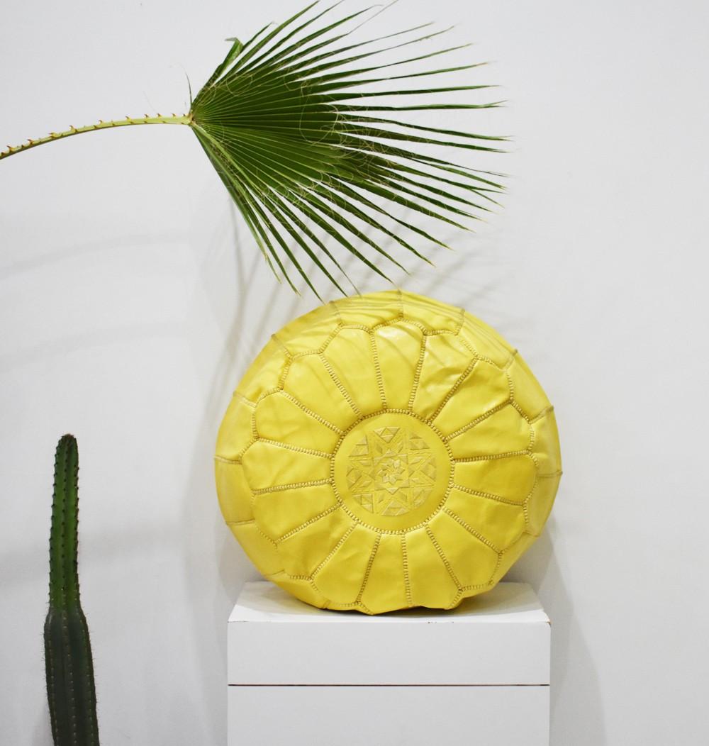 """Round pouf """"Poussin"""" yellow"""