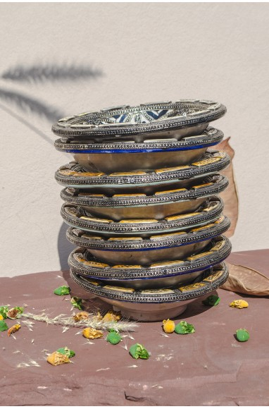 """Round hollow silver dish """"Multicolore"""""""
