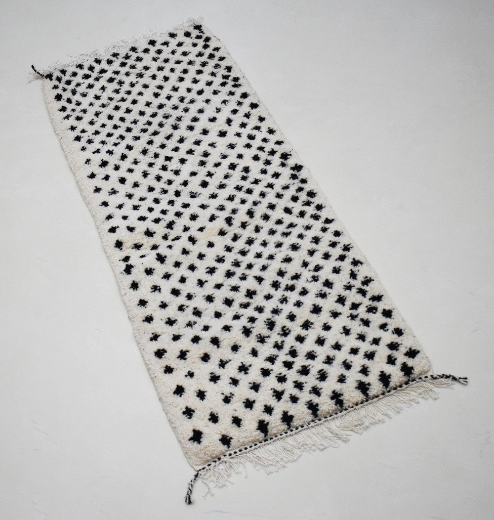 Berber carpet black and white hallway