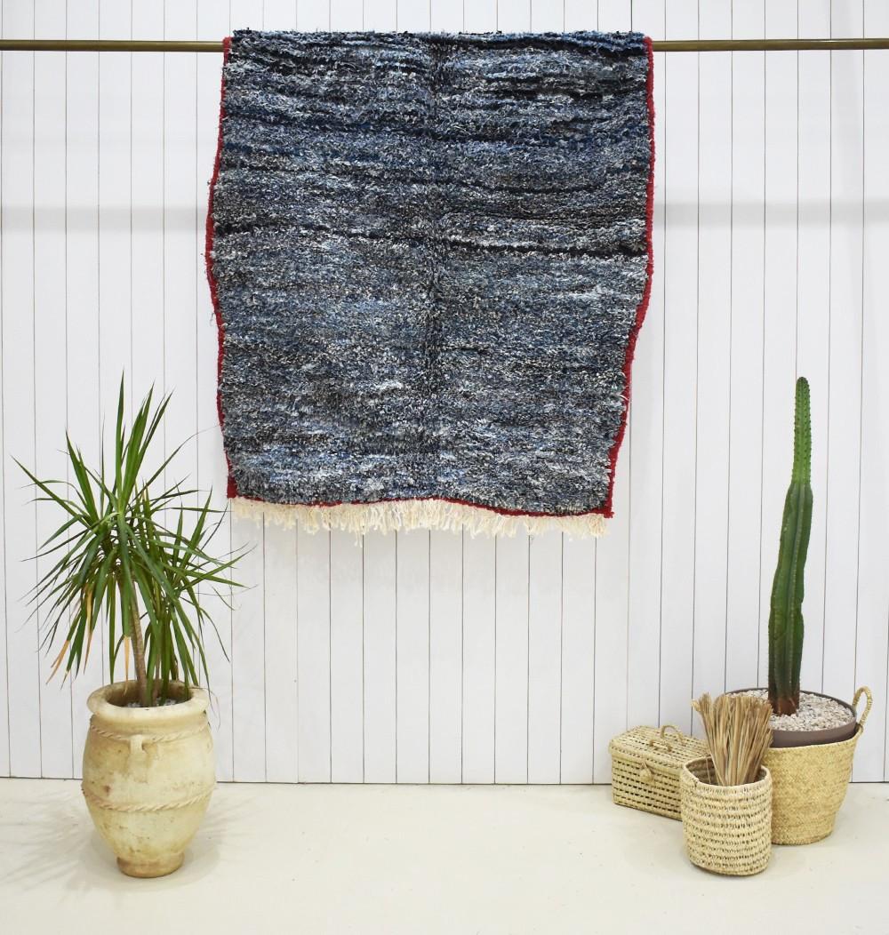 Berber butcher's rug in jeans