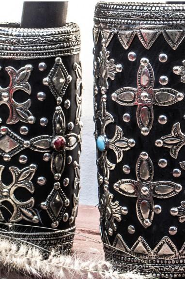 Silver and pearl Mokhfia ceramic