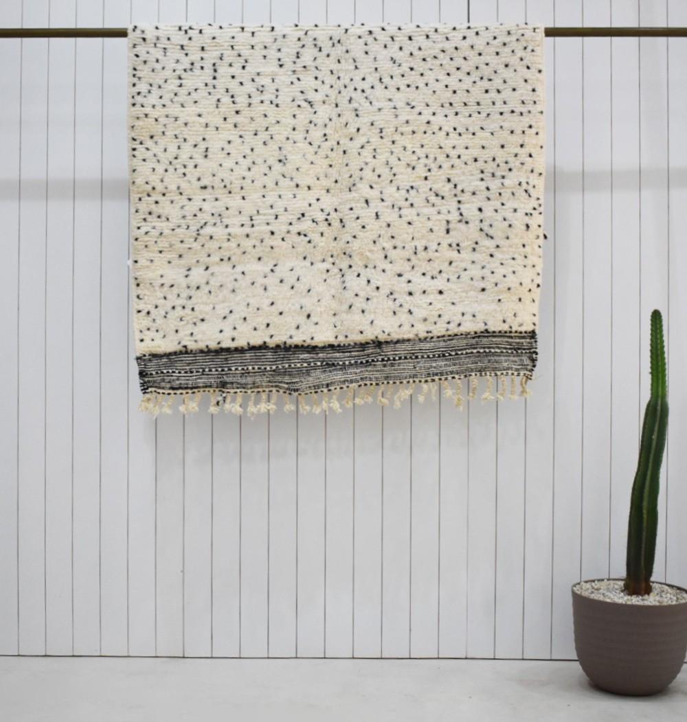 Small Berber polka dot rug