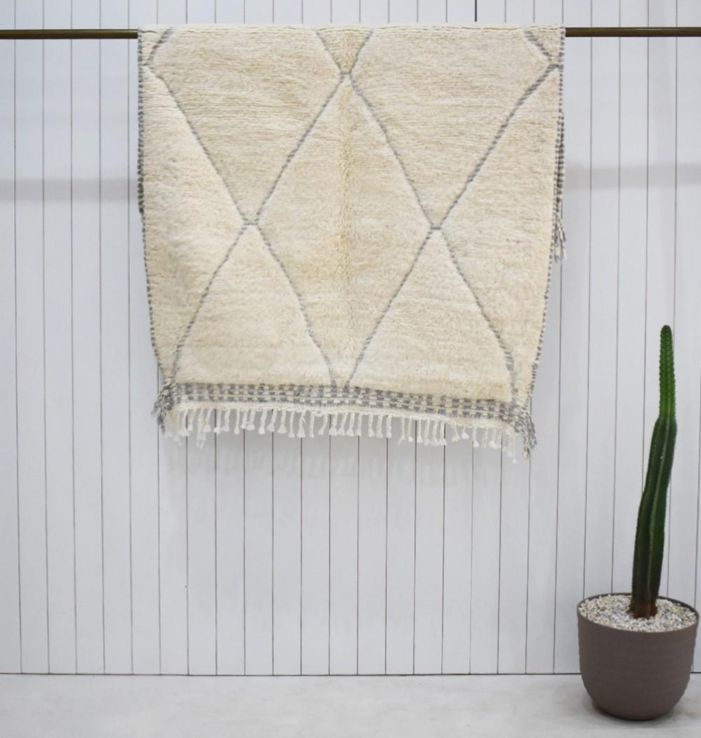 Small berber carpet tone on tone