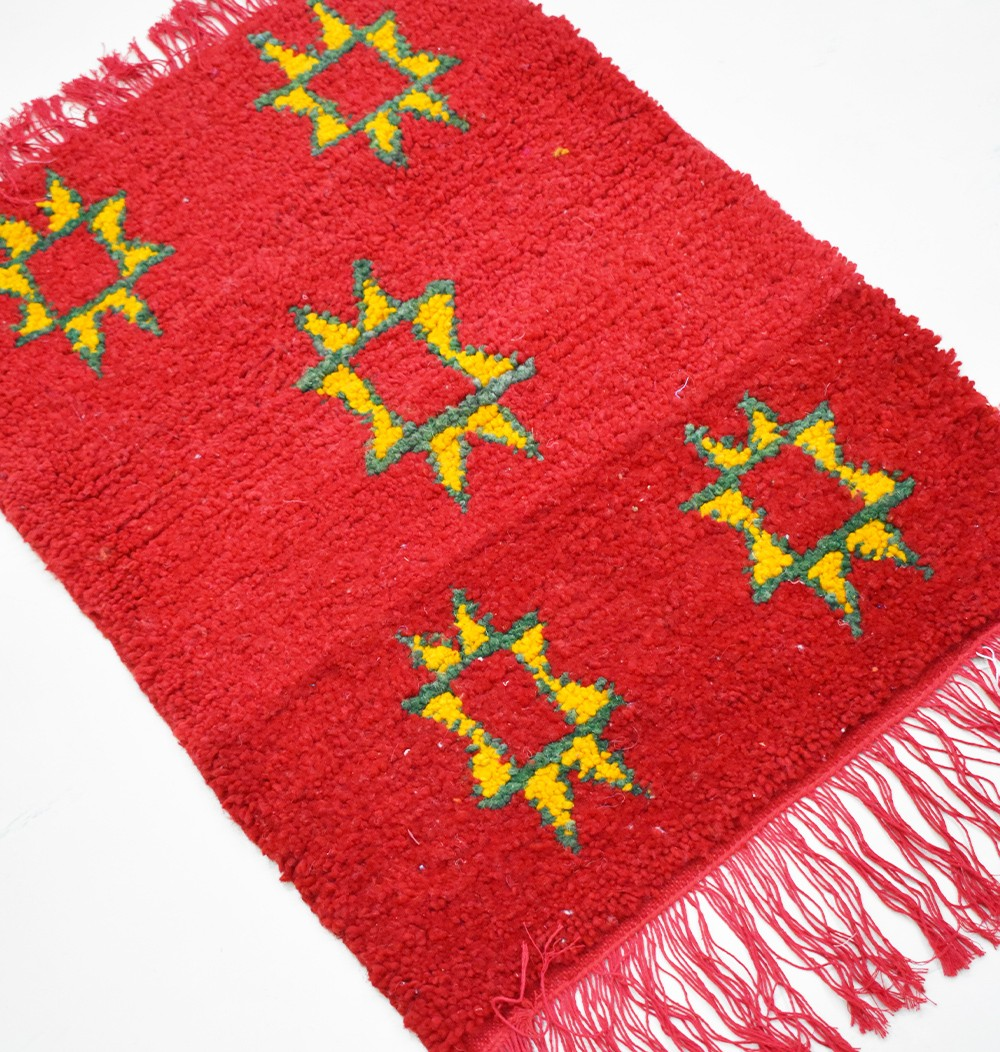 "Small Berber rug ""Berber flowers"""