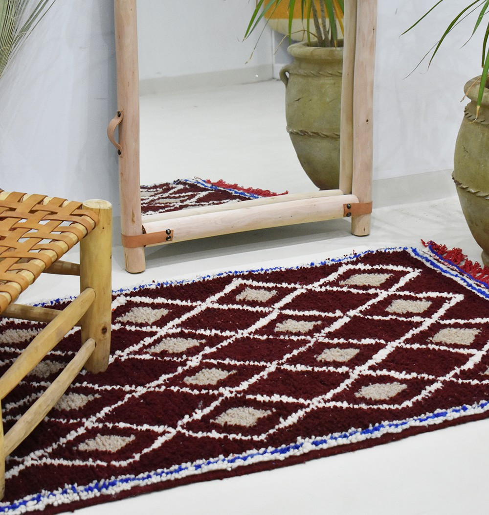 "Small Berber Carpet ""Stained Glass"""