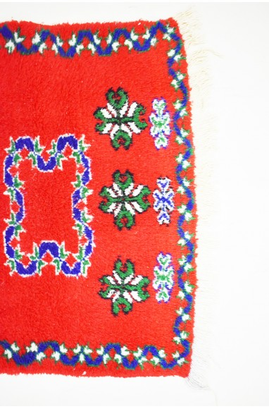 "Small Berber carpet ""Red Square"""