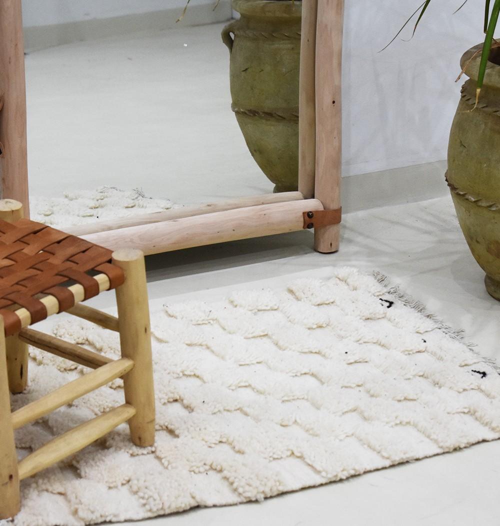 "Small Berber rug ""Duel"""