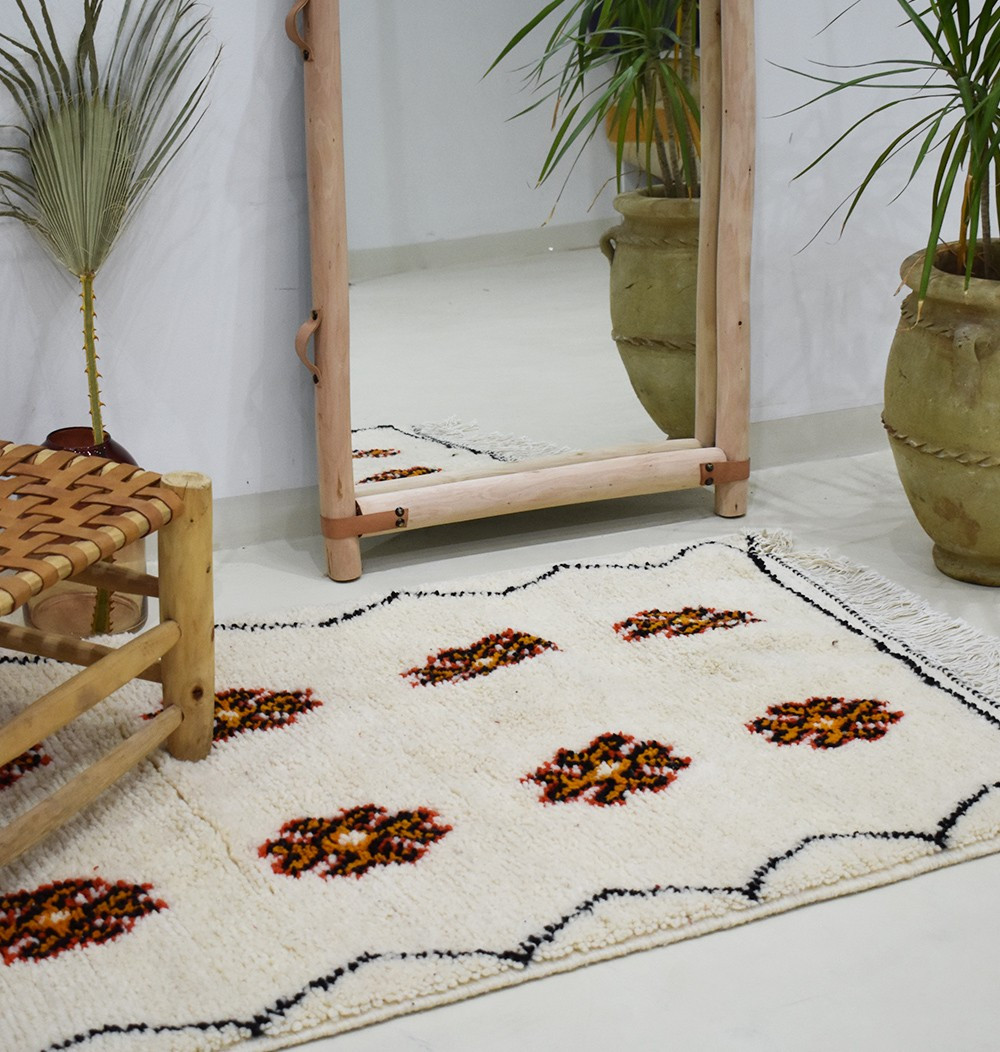 "Small Berber carpet ""Capucines"""