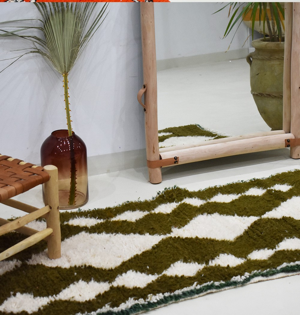 "Small Berber carpet ""Primitive"""