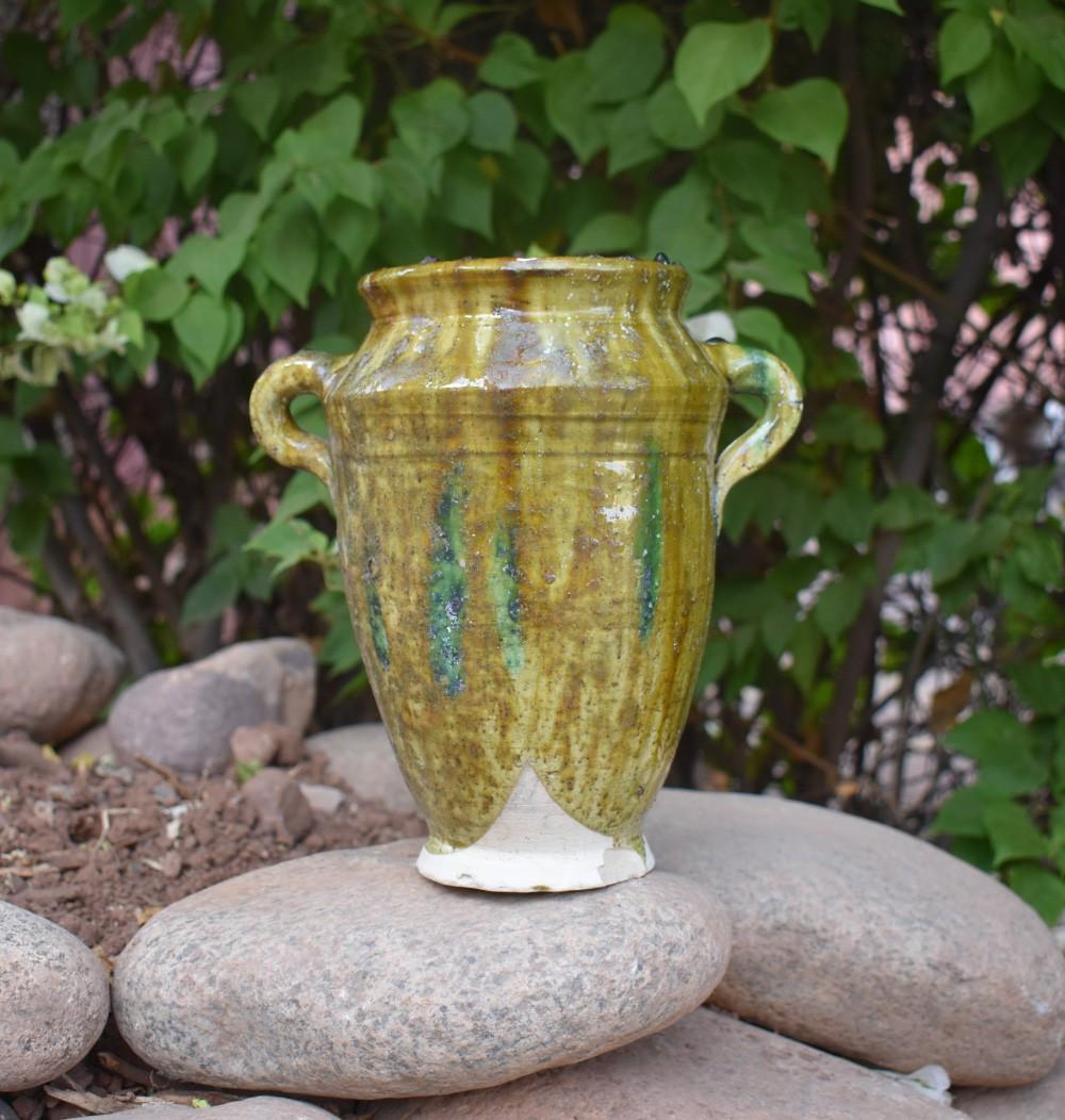 Ocher two-ear vase