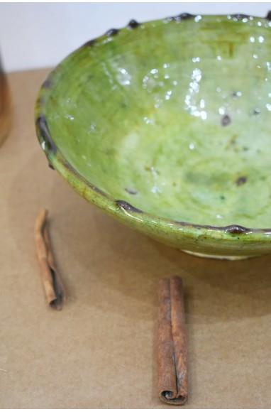 Light green enamel cup