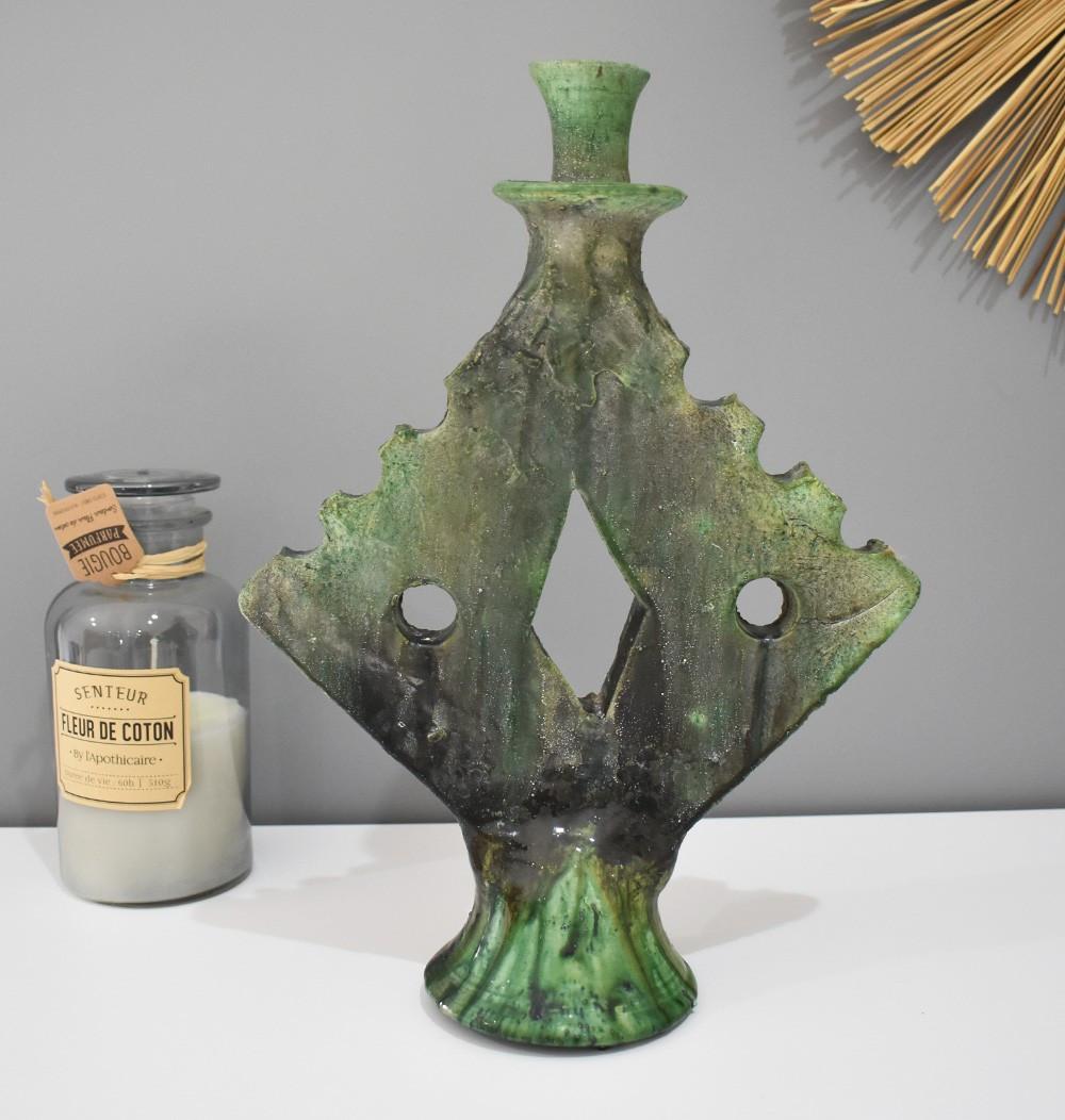 Bougeoire vintage vert tamgroute